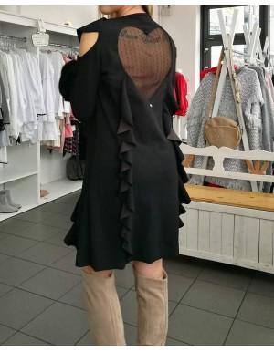 Sukienka moro z kołnierzykiem zapinana na guziki