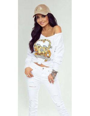 Spodnie jeansowe WhiteGlamour