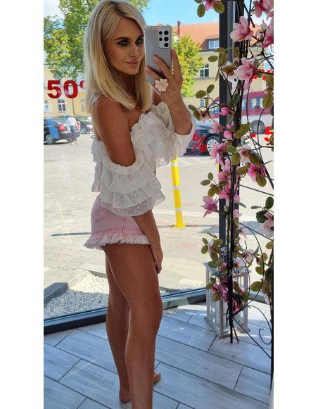 Spodenki jeansowe Sweet pink S/M różowe